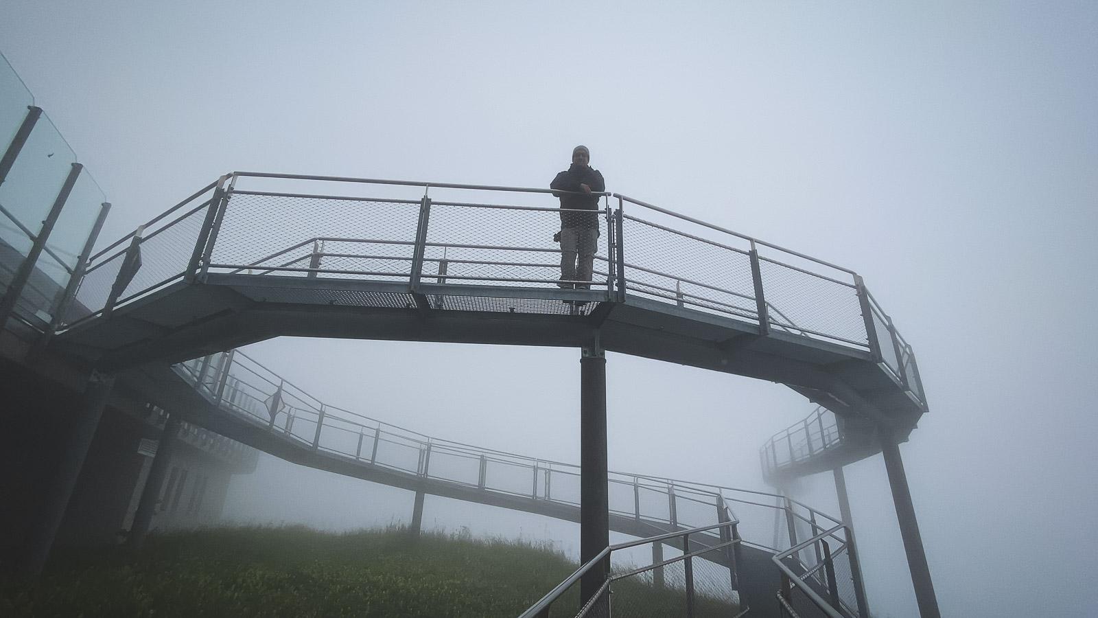 Tissot Cliff Walk in the Clouds