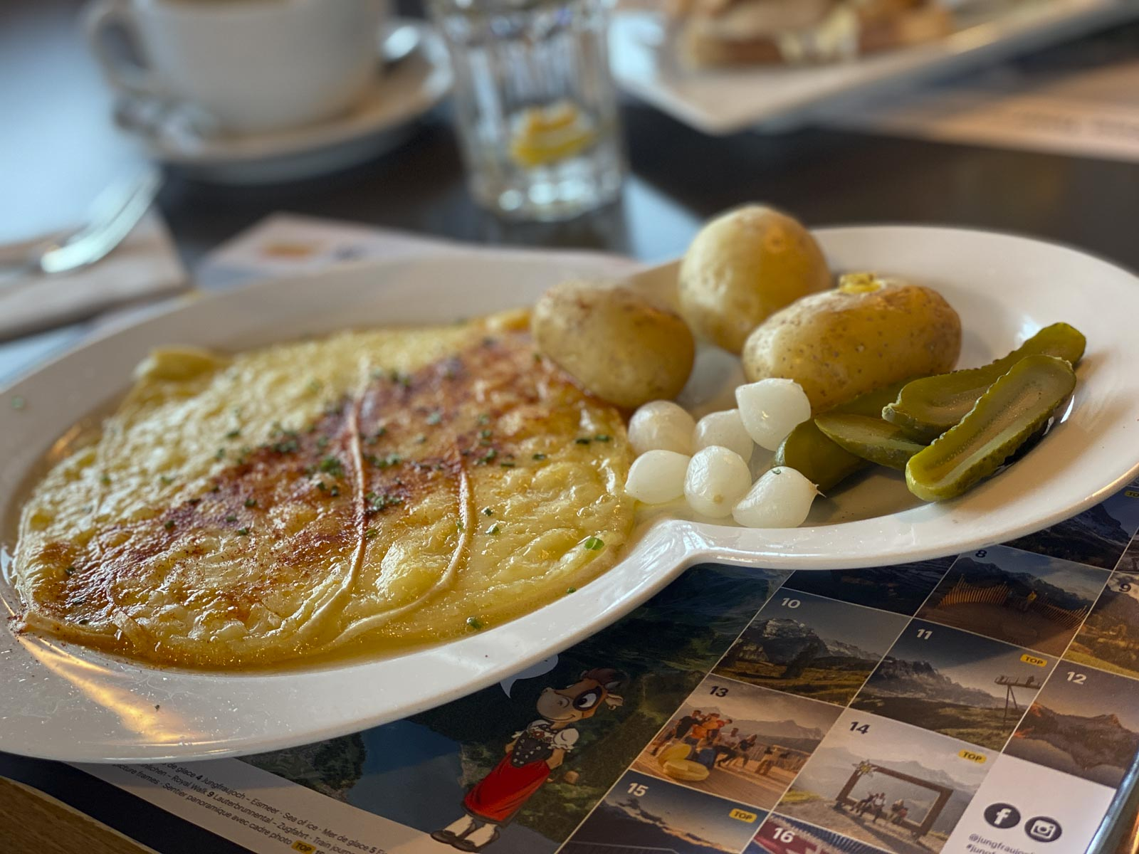 Swiss Raclette at Grindelwald First