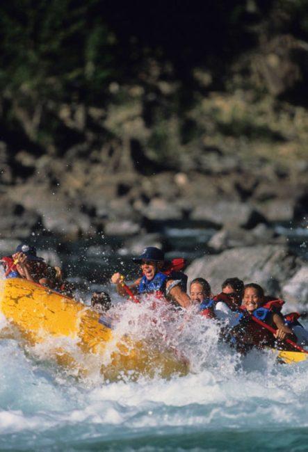 rafting at glacier national park