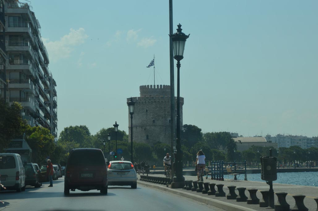 Thessaloniki greece waterfront the white tower
