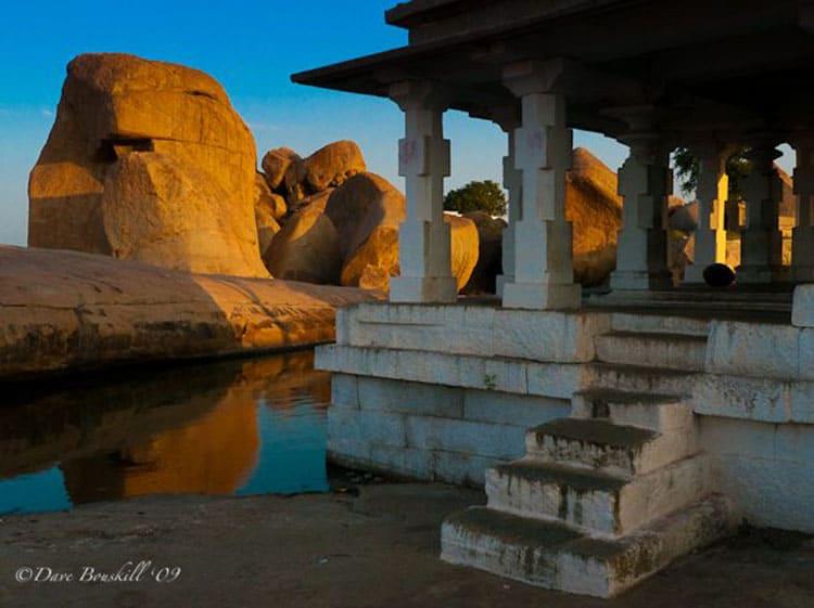 hamakuta hill ruins of hampi india