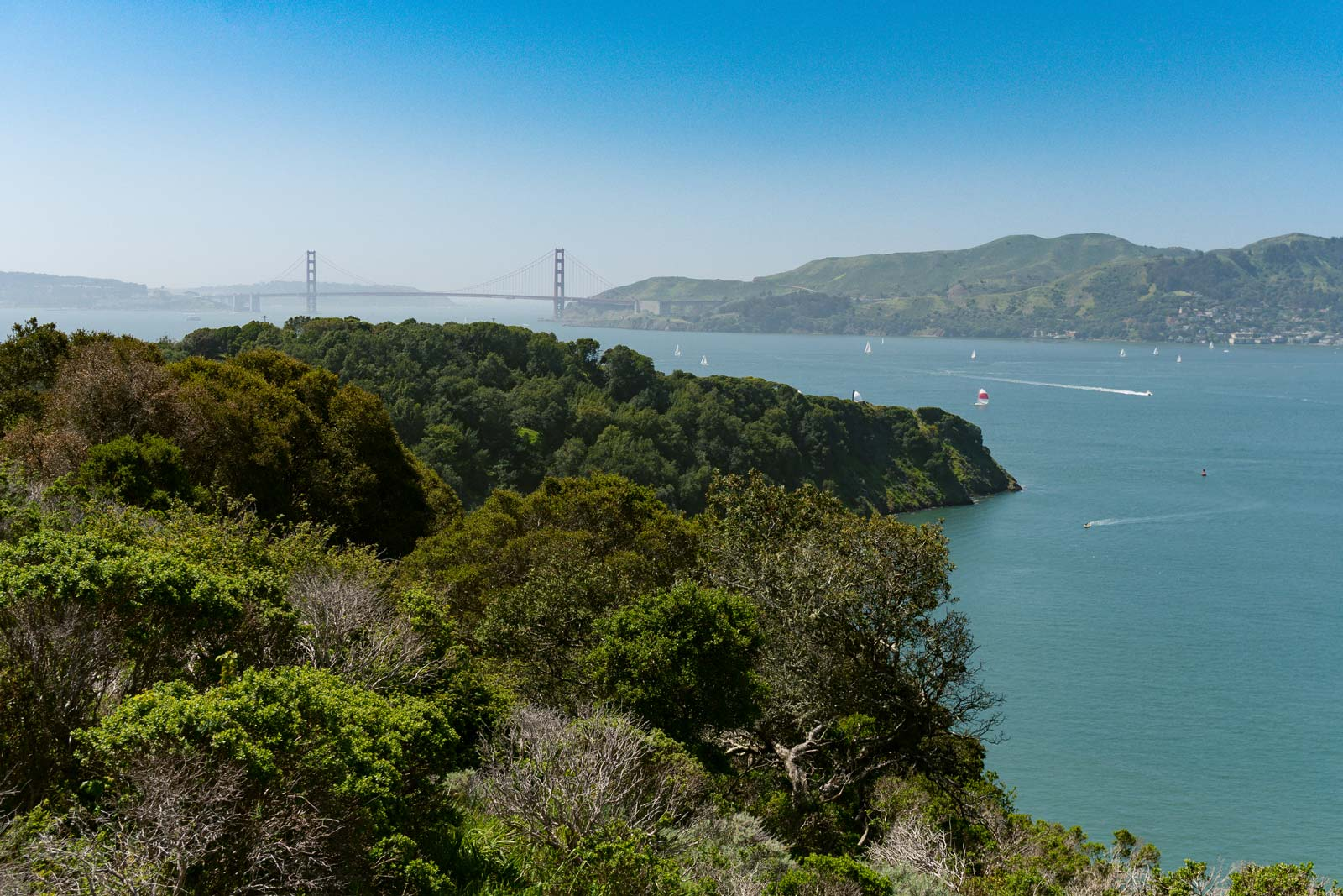 Views of Sanfrancisco from Angel Island State Park