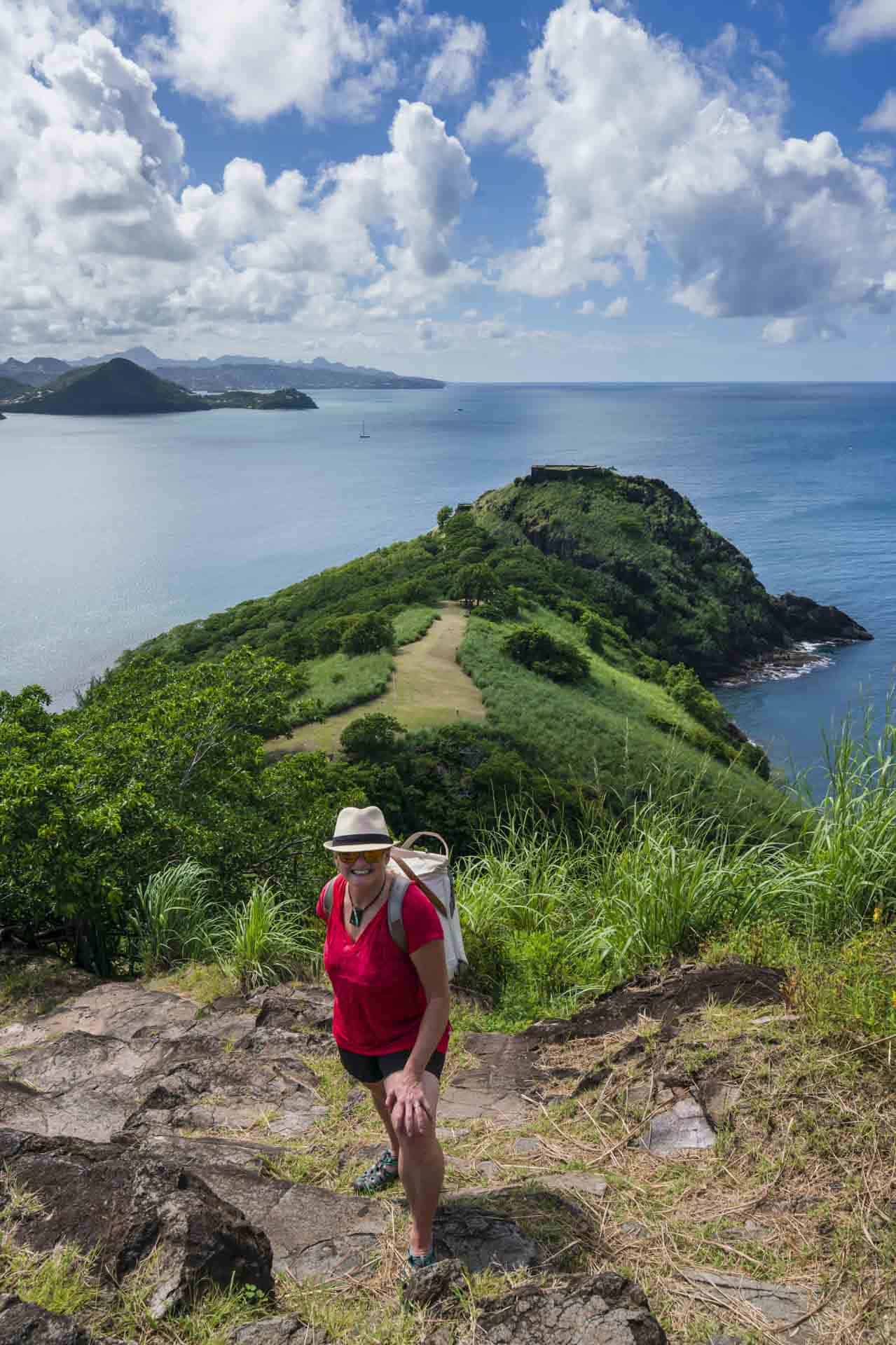 Hiking Pigeon Island in North Saint Lucia