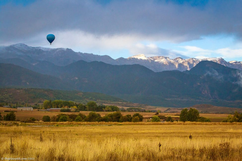 Hot Air Balloon over Spanish Pyrenees