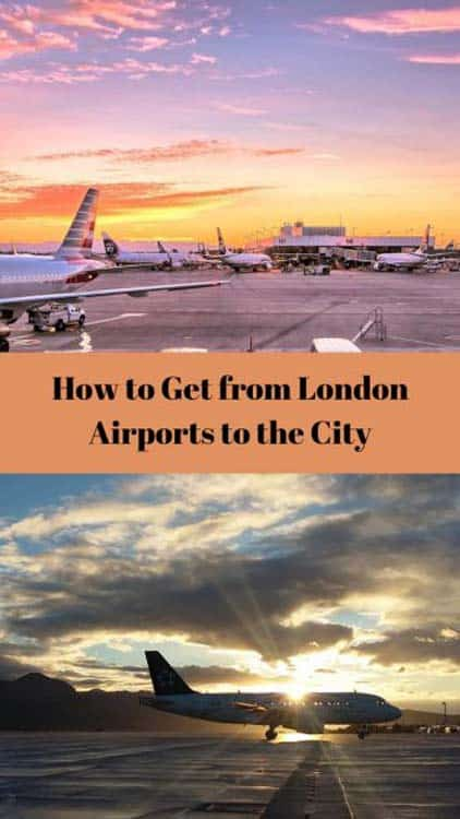 How to get to London from all London Airports