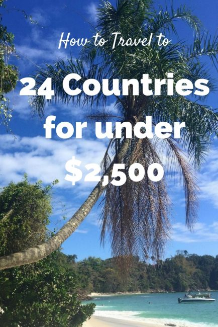 How to Travel to 24 Countries for Under $2,500