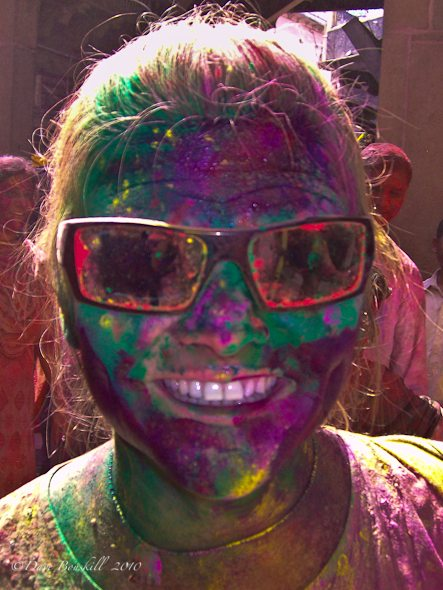 Tourist at Holi in India