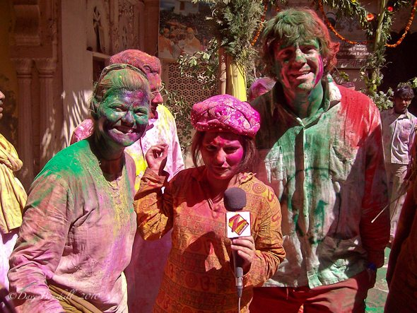 Colours of Holi take place during India TV interview