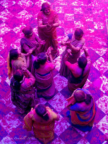Women Dance at Holi Festival in India