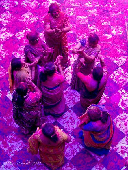 Women Dance at Holi Festival in India