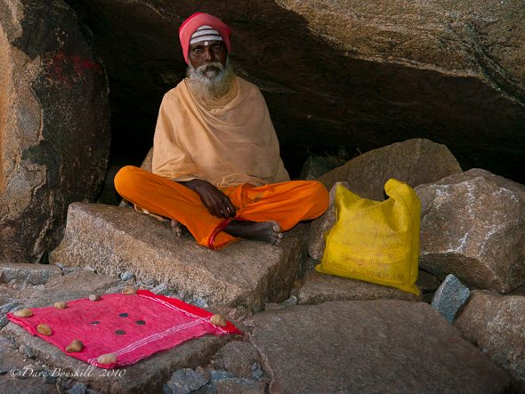 Saddhu in cave in India