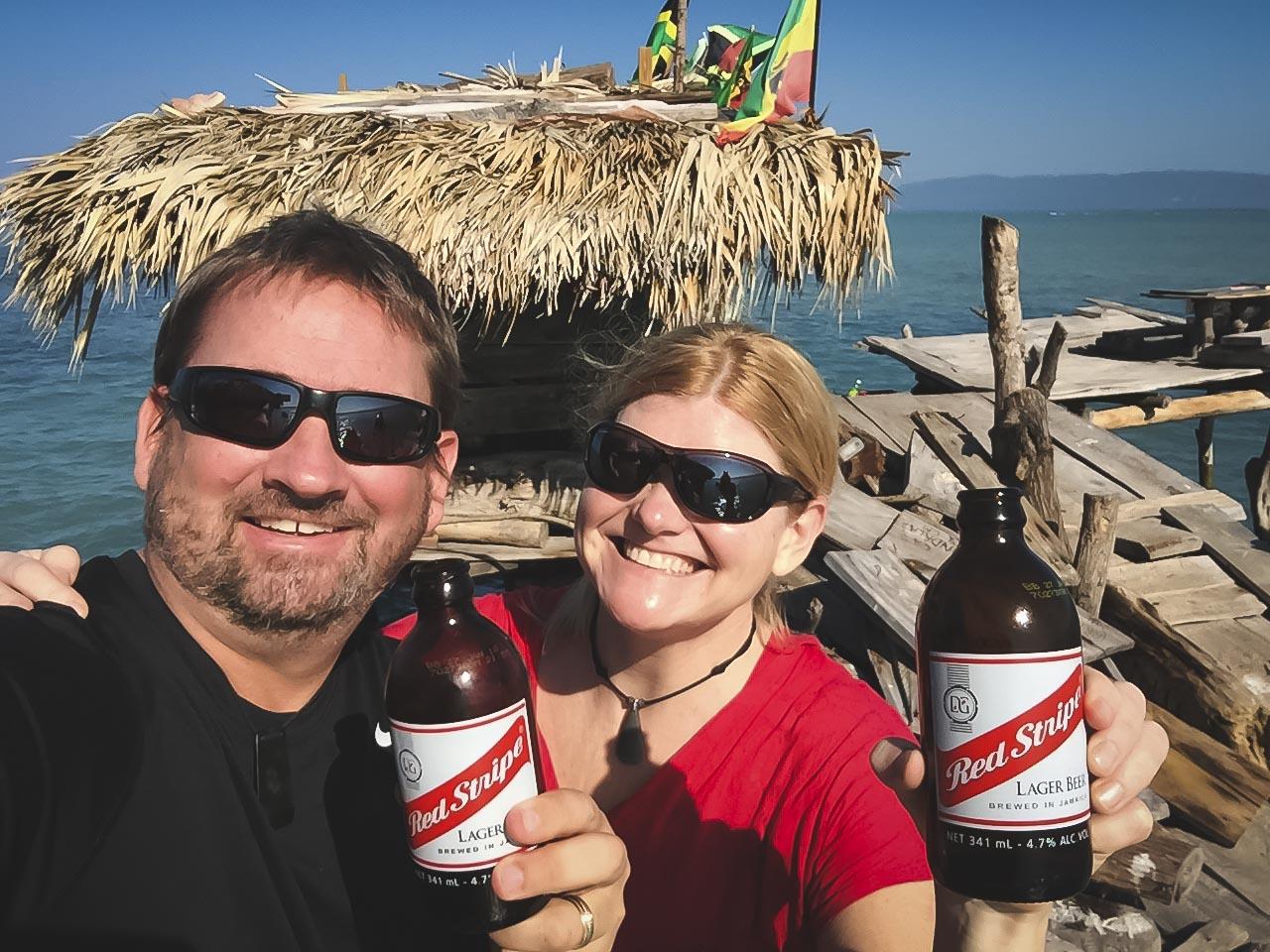 Red Stripe Beer in Jamaica
