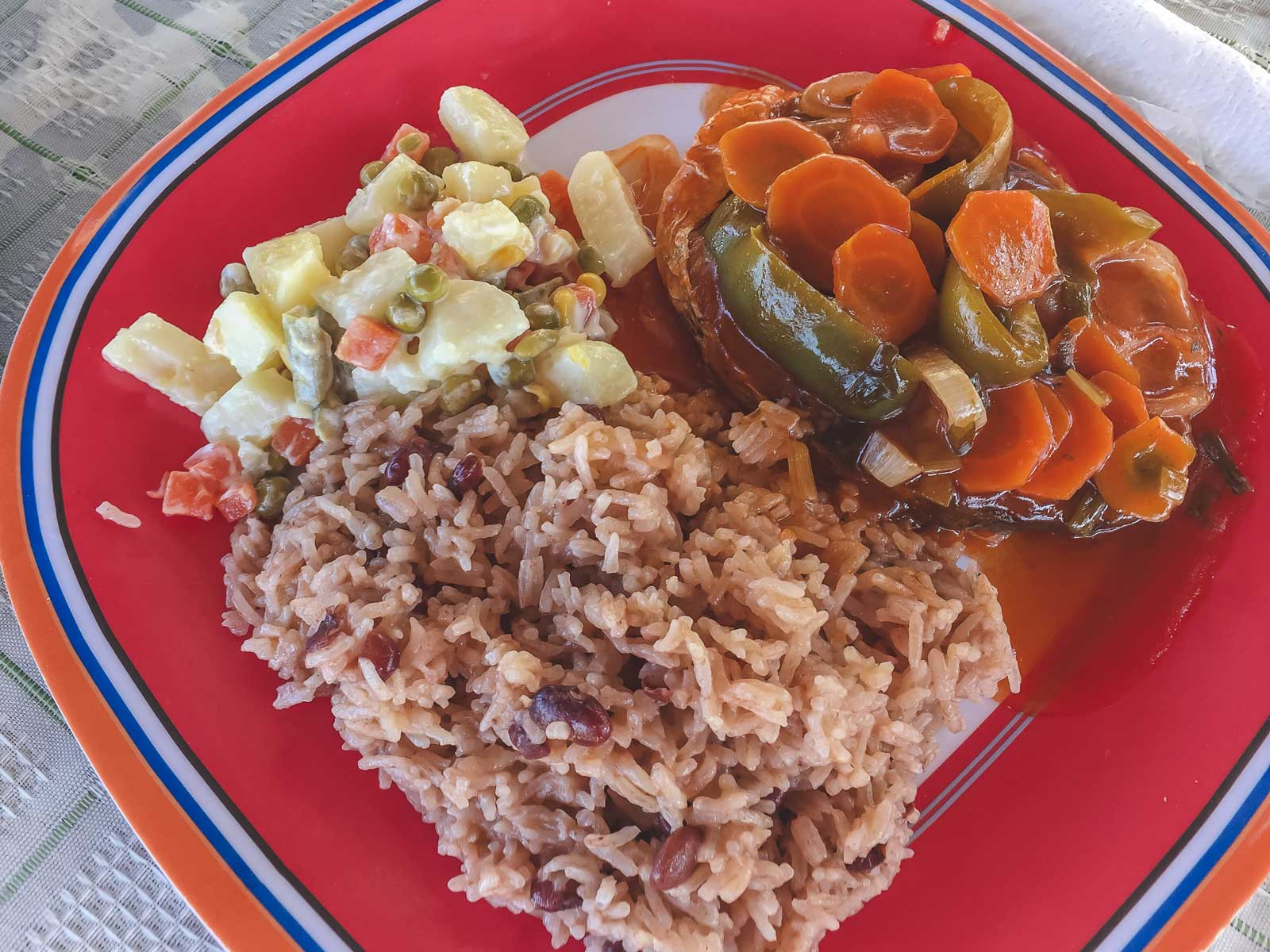 Rice and Beans Jamaican Food
