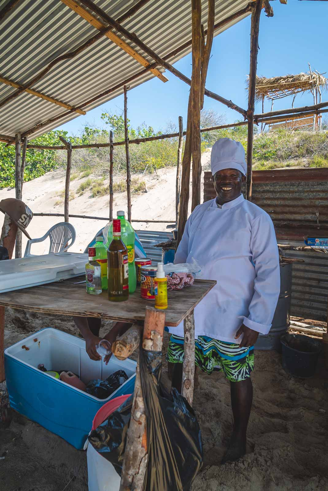 Cooking Jamaican Food with chef
