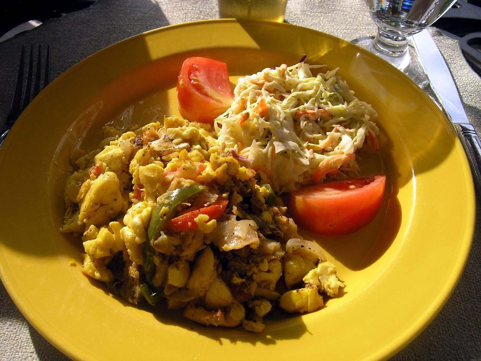 Ackee and Saltfish Jamaican Food