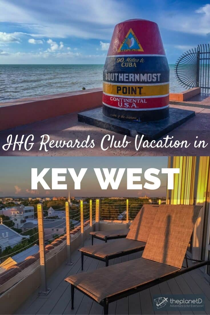 When the InterContinental Hotels Group offered us enough IHG Rewards Club points to for a trip anywhere in the world, we decided on a Key West Vacation.