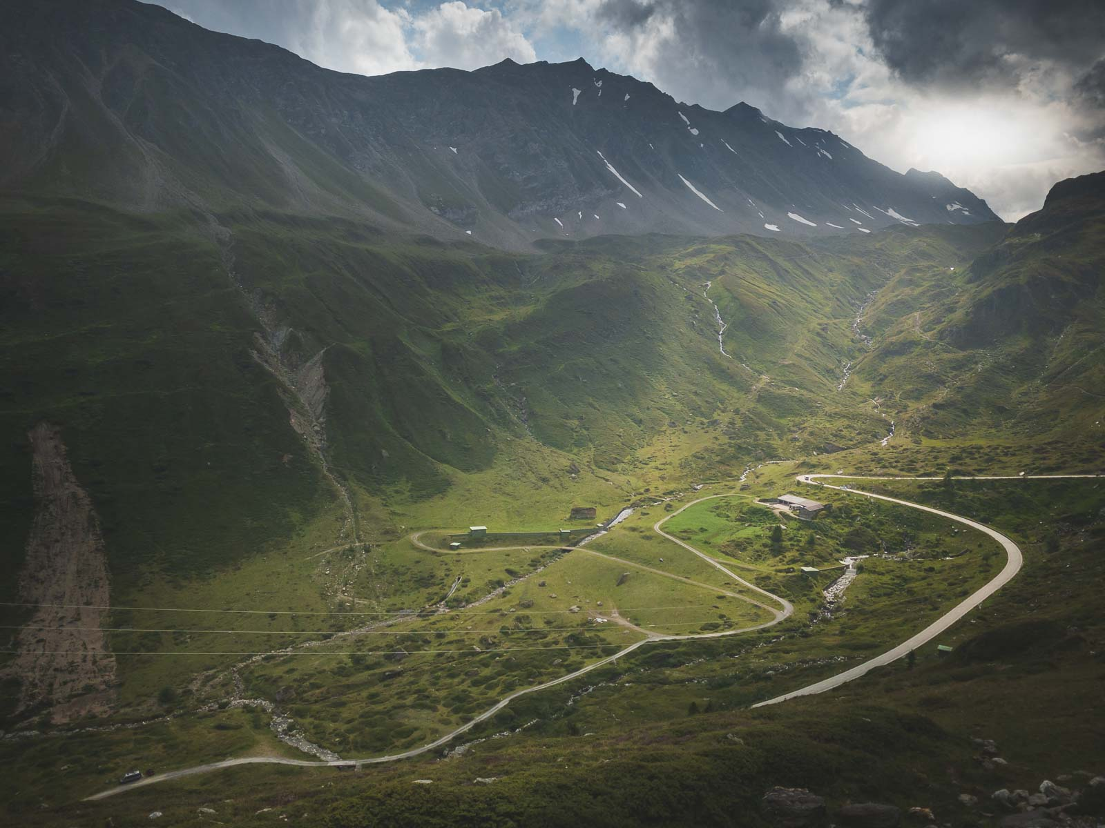 Driving the Nufenen Pass in Ticino