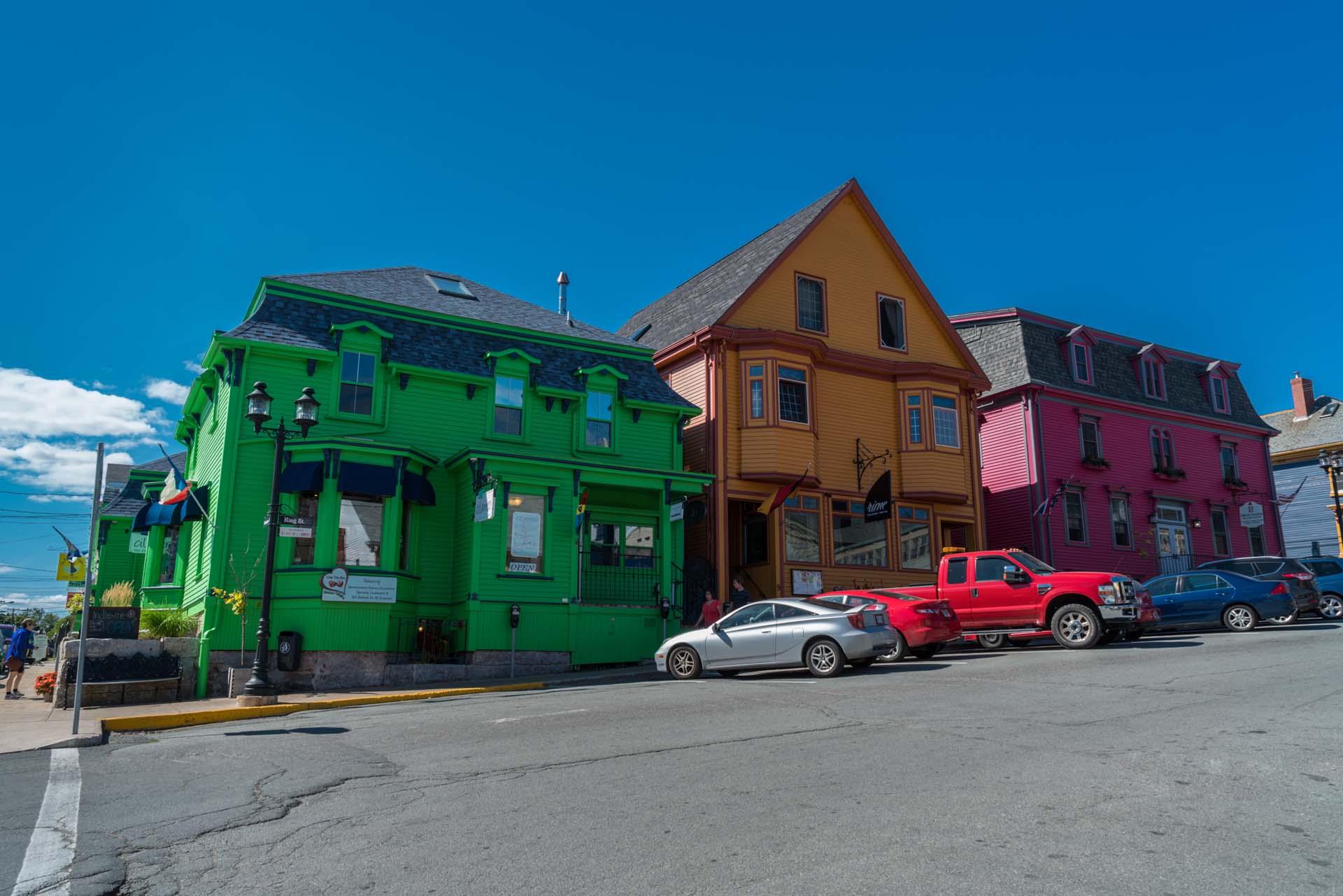 painted buildings historic downtown lunenburg