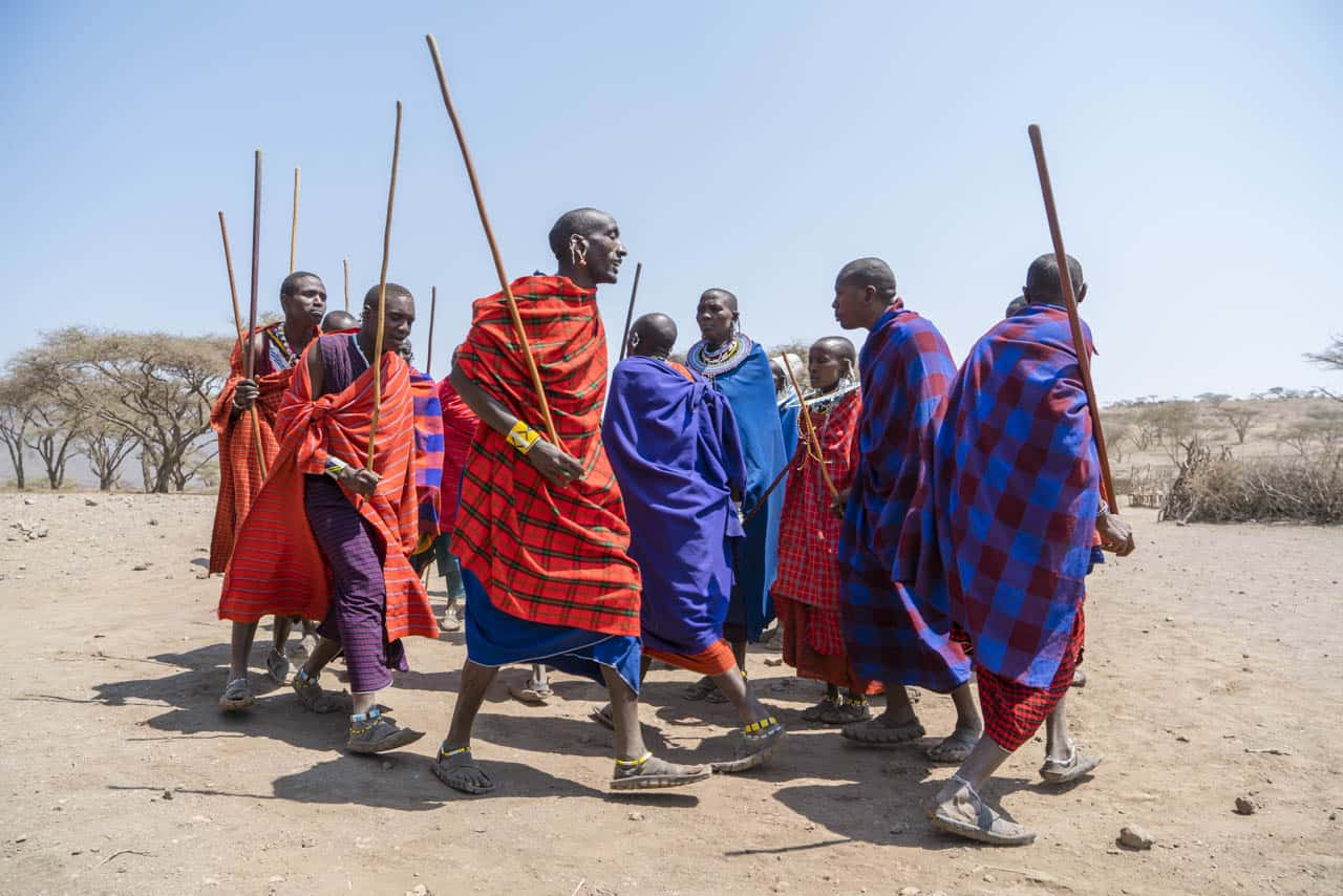 Maasai tribe visit greeting