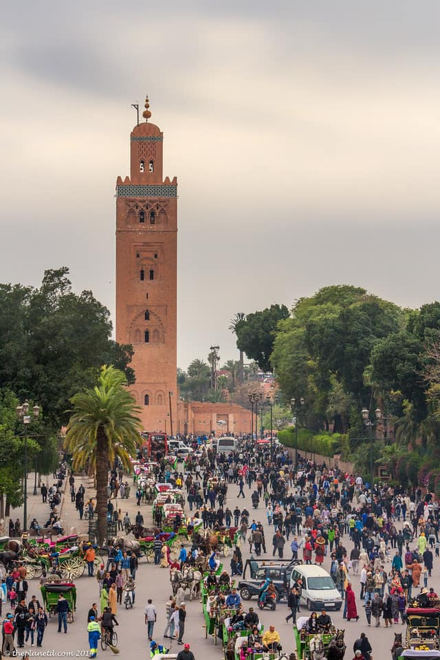 Marrakech crowd