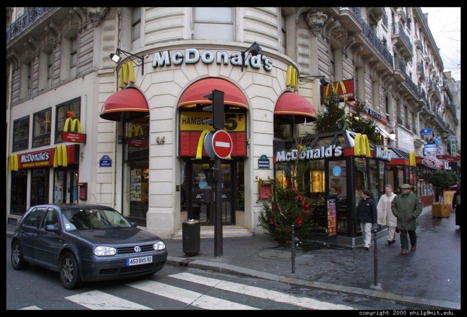 Restaurants Mac Donalds Paris