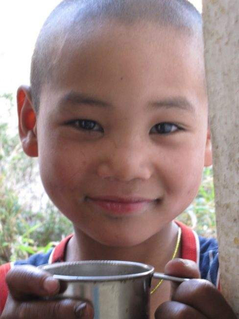 Monastery child in nepal