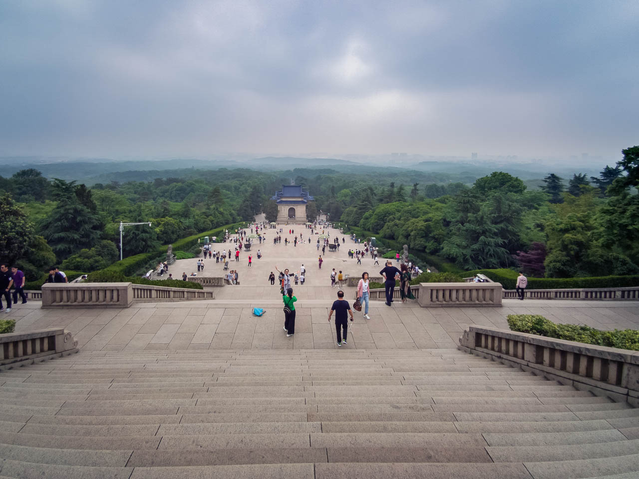 The stairs at Sun Yat Mausoleum Nanjing