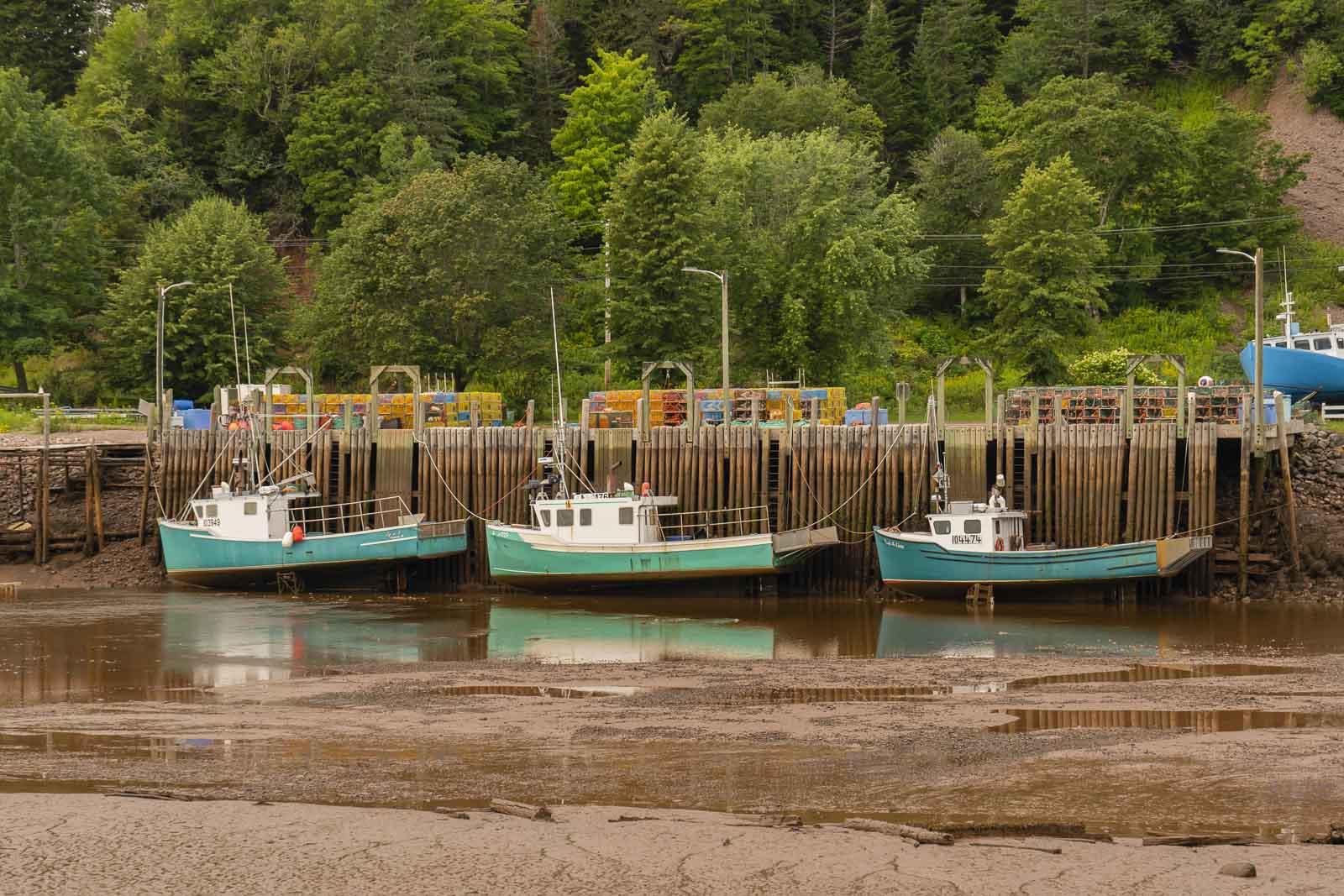 fishing boats at st martins new brunswick