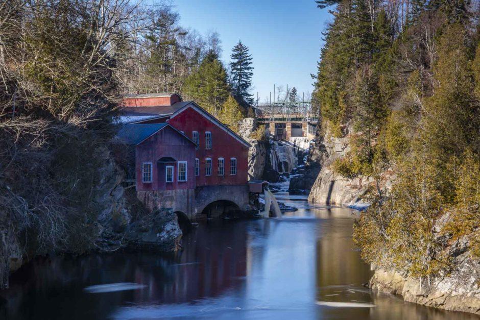 Saint George Gorge New Brunswick Mill and waterfall