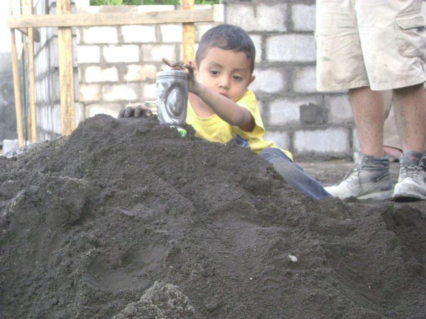 A Child Lends a Hand