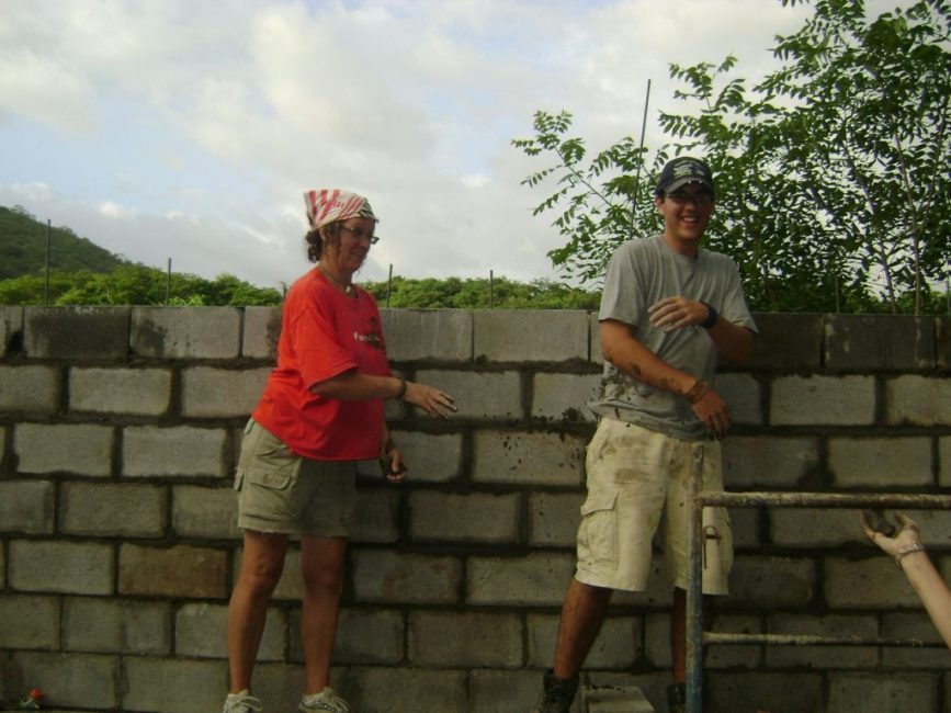 Teresa and Joey Wilson Building the School