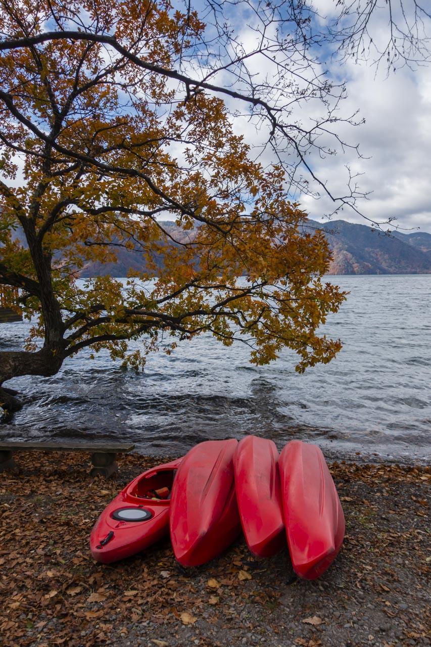Kayaking Lake Chuzenji in Nikko Japan