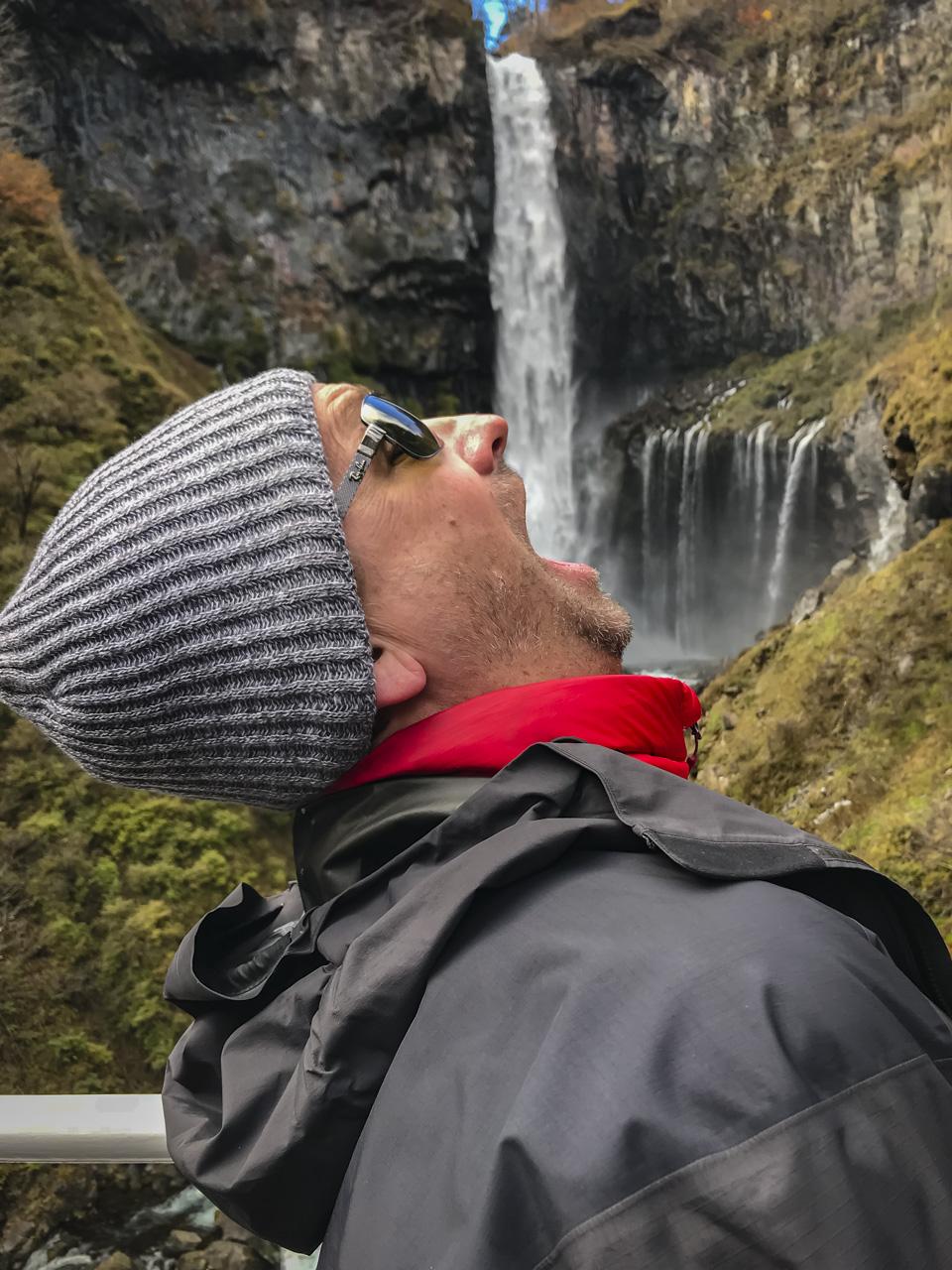Having some fun at Kegon Falls Nikko Japan