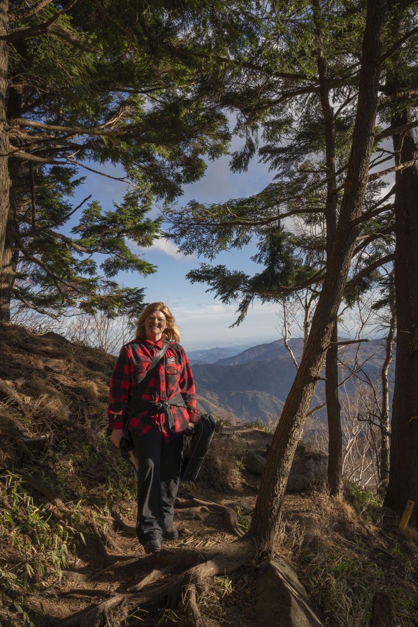Hiking up Mount Hangetsu in Nikko Japan