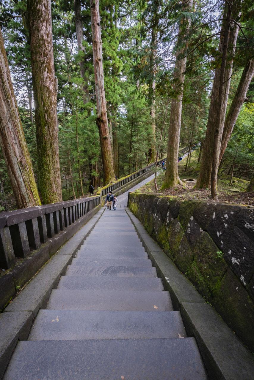 Tosogu Inner Shrine steps in Nikko Japan