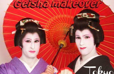 Geisha male transformation in Tokyo, Japan