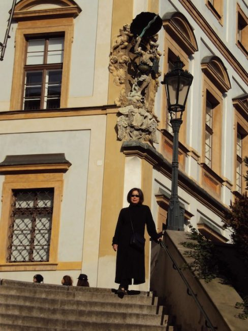 On the Castle Steps