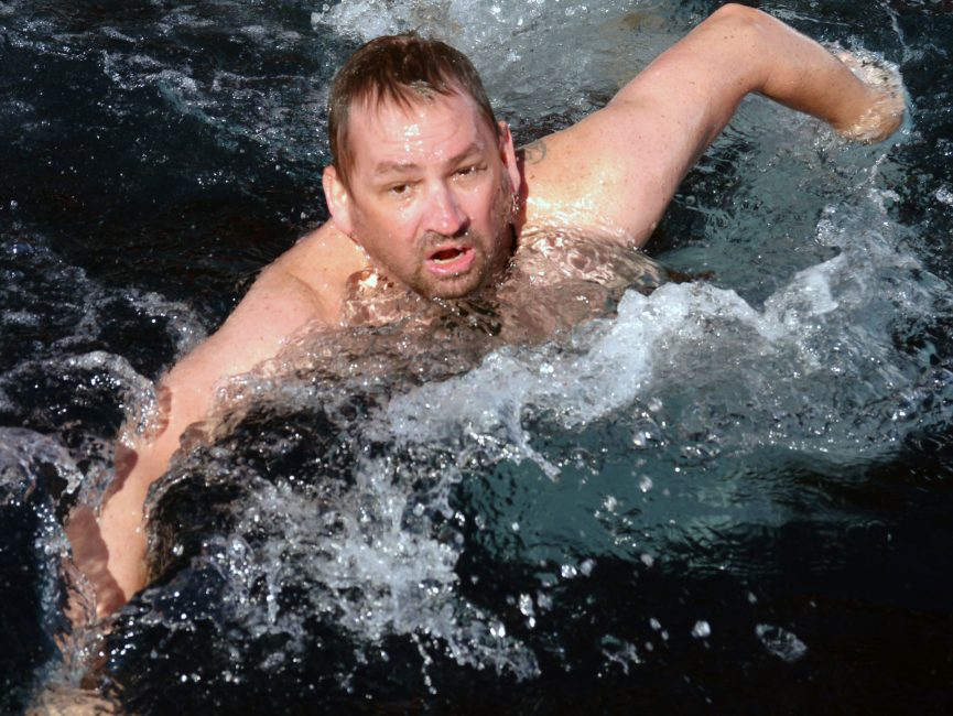 Polar Plunge-dave-swimming