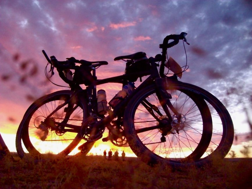 Our Bikes at Sunset