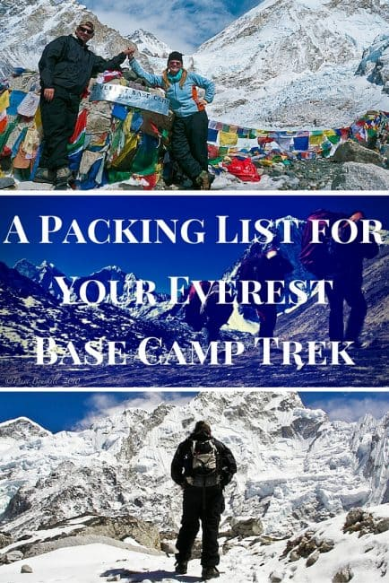Packing List for Everest Base Camp