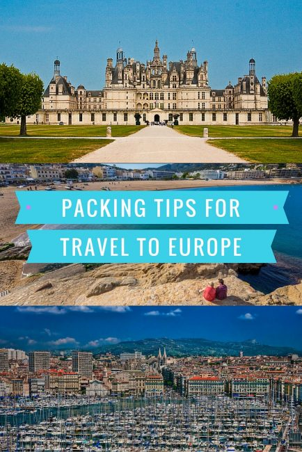 Packing tips for travel to Europe