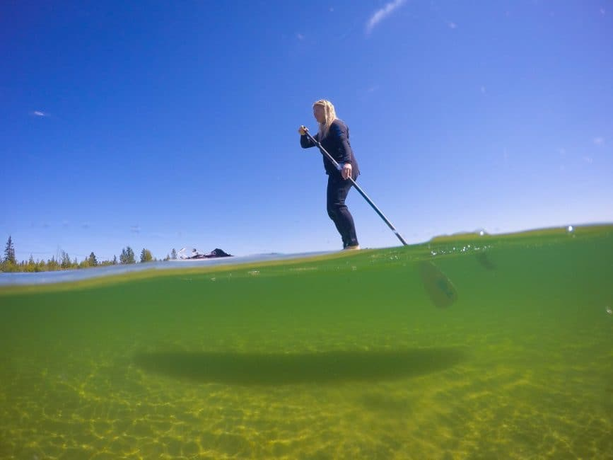 Paddle Boarding in northern Michigan