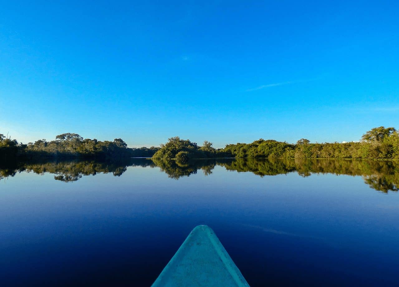 Paddling through the Pantanal in Brazil