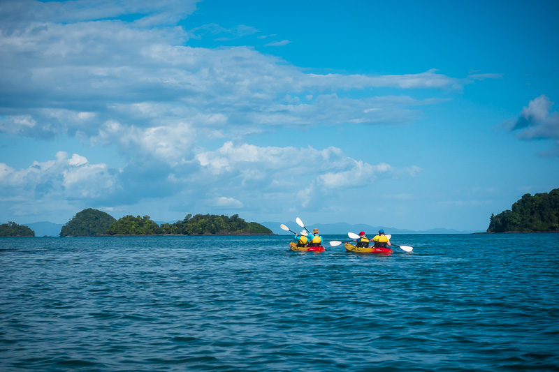Kayaking on our Panama Canal Cruise