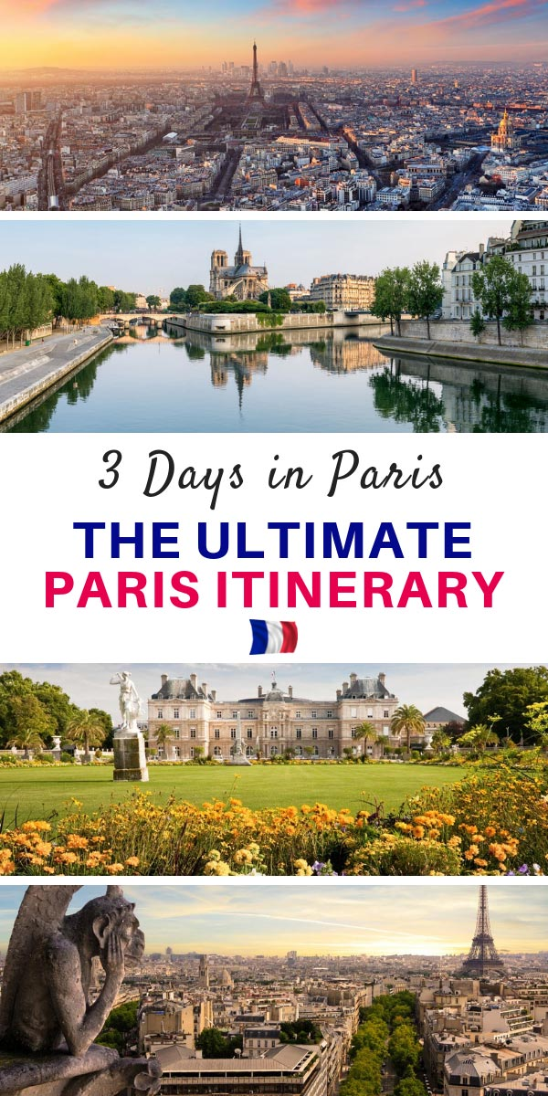 Paris itinerary in Three Days Pinterest