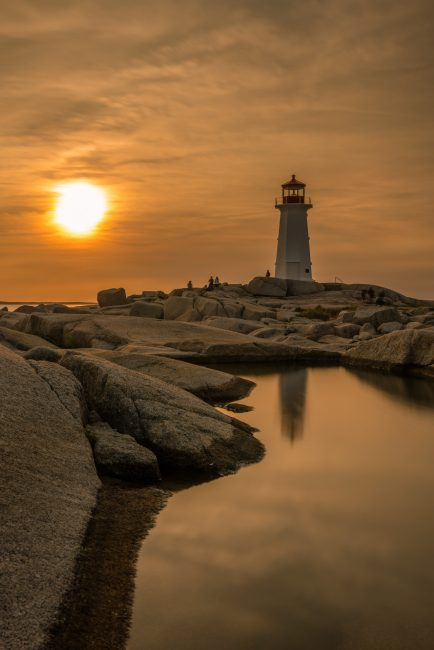 Peggy's Cove: the famous landmark from land and sea