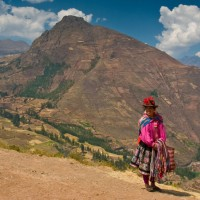 The Sacred valley of Peru.