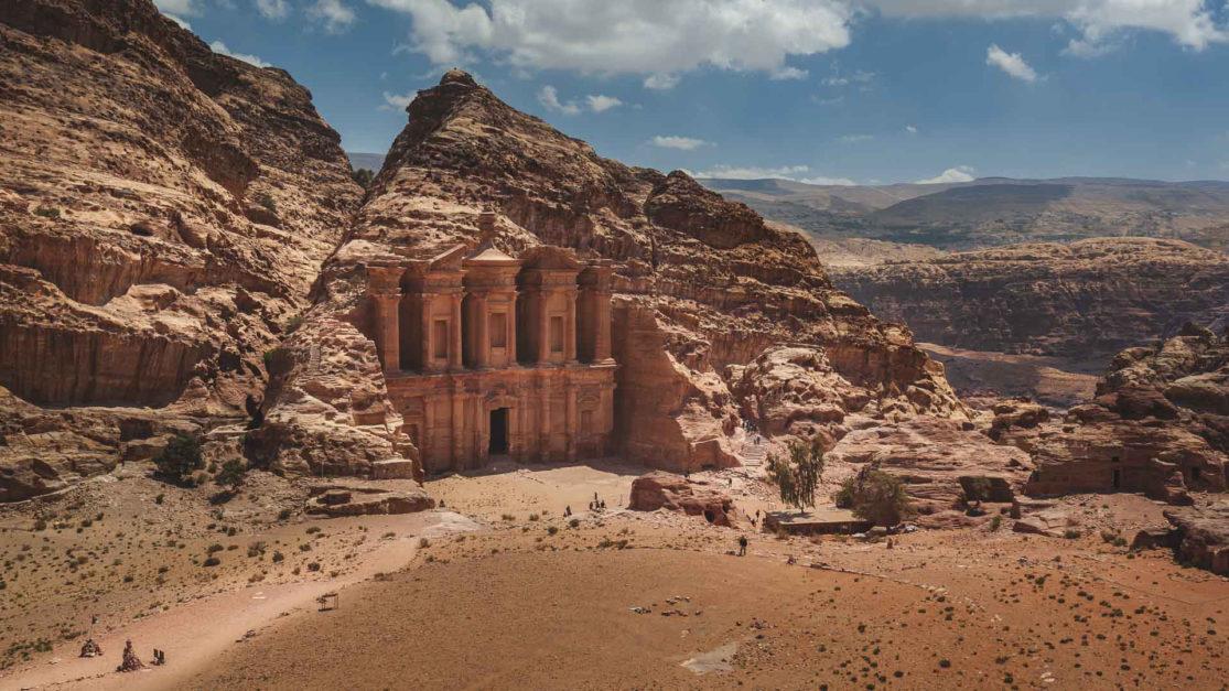 petra jordan - petra monastery bucket list travelers dream