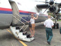 boarding plane in malaysia