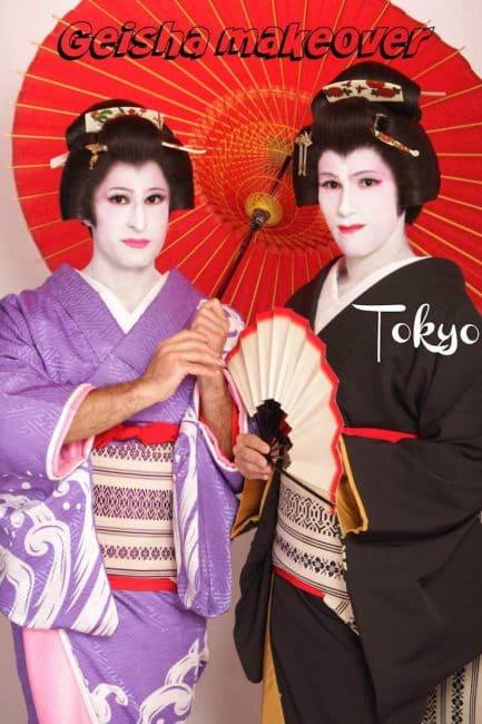Geisha transformation in Tokyo, Japan